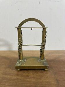 Antique Brass Column Arch Pocket Watch Display Case Stand