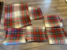 """Set of 6 Pottery Barn Plaid Pillow Covers 20""""x20"""" Beautiful"""