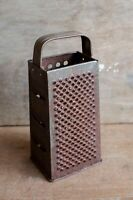 VINTAGE RUSTY Box Cheese Grater Metal Tin Shredder Rustic Primitive RUSTY