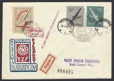 POLAND 1958 Leszno World Glider Championship cover used Gostyn Glider MOSHA 100
