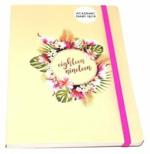 A5 Pink Flower 2018-2019 Academic Mid Year Week To View Diary Student Organiser