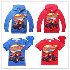 Hot!Kids Hoodies / T-Shirts Cartoon Printed Blaze and the Monster Machines Coat