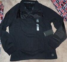NEW CALVIN KLEIN JEANS 1/4 Zip Pullover Sweatshirt Men Black L Large NEW NWT