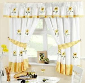 54 W By 39 L Simple Fresh Design White Background Window Curtain 2 Panels For Sliding Glass Door Patio Bedroom Living Room T H Home Draperies Curtains Set Sunflower