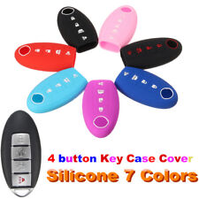 For Nissan Maxima Altima 4 Button Remote Key Fob Keyless Cover Case Silicone Gel