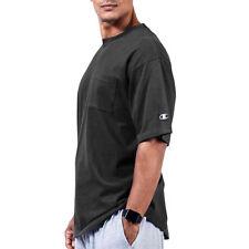 a1d5f4f0 Champion 100 Cotton Big & Tall Men's Short Sleeve Pocket Jersey Tee Chb310  Black 3xl