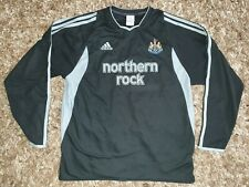 Newcastle United Black Away Football Shirt Jersey 2003 2004 UK Large Long sleeve