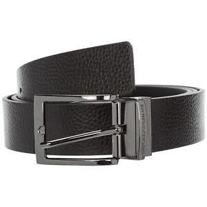 Emporio Armani belt men Y4S195YLO8J88001 Black/ Black calfskin h 3.0 cm