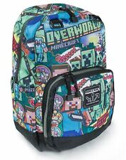 Minecraft Steve Overworld Kids Backpack Rucksack School Waterproof Storage bag