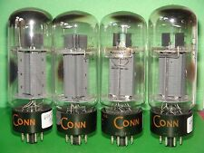 Matched Quad RCA CONN 7027 A Vacuum Tubes  Very Strong 6350 6260 63806375