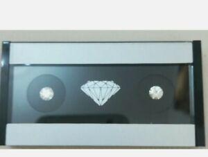2 Coppie Diamante Da 0.50 Ct D VVS1