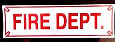 "FIRE DEPT. Highly Reflective Vehicle Decal -  RED - size: 3"" x 10"""