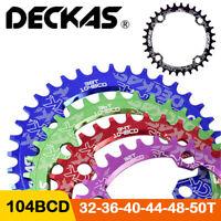 DECKAS 104bcd MTB Round Oval Narrow Wide Chainring 30-52T Bike Chainwheel 7-10s