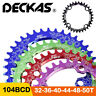 DECKAS 104bcd MTB Round Oval Narrow Wide Chainring 30-52T Bike Chainwheel 7-10s