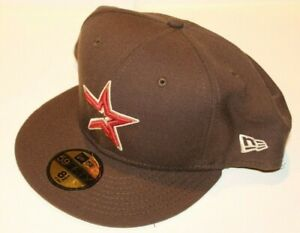 MLB Houston Astros New Era 59FIFTY Fitted Brown With Orange Baseball Hat 7 7/8