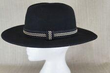 Black Fedora Hat size Medium.