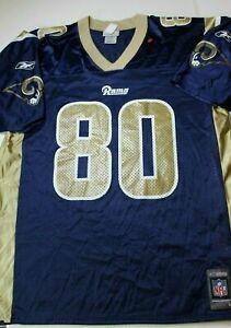 Men's New Reebok Los Angeles Rams Isaac Bruce Jersey Large 23.5  x 33
