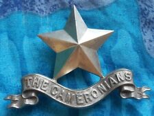 1st Cameronians Pipers Badge 64 mm WM 3 Lugs ANTIQUE Original