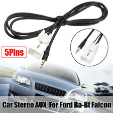 5pin 3.5mm Stereo AUX Auxiliary Adaptor Lead Radio Cable for Ford Ba-bf Falcon