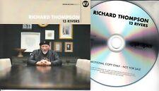 RICHARD THOMPSON 13 Rivers 2018 UK 13-trk promo test CD card sleeve