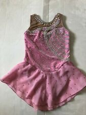 Gk Girls Custom Crystallization Ice Figure Skating Dress Girls Size Medium