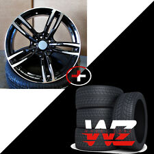 "20"" Wheels/Tires fits BMW 3 4 5 6 Series 7 Series M6 Sport Style 437 Rims Black"