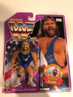 Hasbro Figure WWF WWE Hacksaw Jim Duggan Wrestling 1994 Violet card Vintage