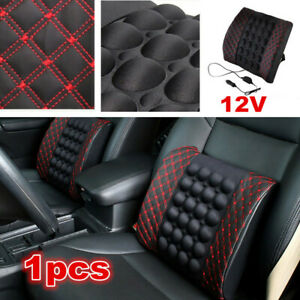 1x Car Accessories Lumbar Seat Chair Pillow Back Support Vibration Massage Pads