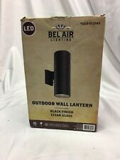 New Bel Air Lighting Outdoor Wall Lantern Black Finish Glass Led