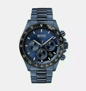 HUGO BOSS HB1513758 HERO BLUE STAINLESS STEEL STRAP MEN'S WATCH NEW