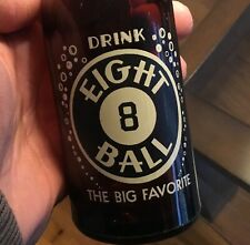 Eight 8 Ball Painted Label ACL Soda Pop Bottle Altoona PA Red Rock Advertising