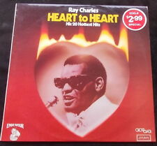 RAY CHARLES Heart To Heart - His 20 Hottest Hits LP
