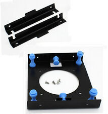 "3.5"" SSD HDD Hard Disk to 5.25"" Drive Bay Adapter Shock Absorption Rack Bracket#"