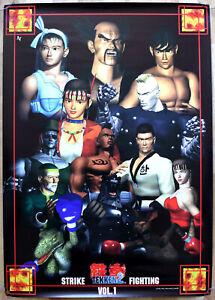 Tekken 2 RARE PS1 51.5cm x 73cm Japanese Promotional Poster