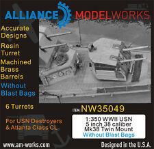 "Alliance Model 1:350 WWII USN 5"" 38 Cal Mk38 Twin Mount wo/Blastbag #NW35049*"