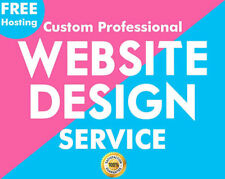 Design your Custom Website / Responsive Design  Mobile (Free Domain + Hosting)