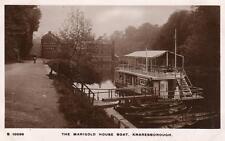 Marigold House Boat Cafe Knaresborough unused RP old pc WHS Kingsway S10096
