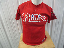 VINTAGE MAJESTIC PHILADELPHIA PHILLIES RED AWAY SEWN LARGE JERSEY YOUTH WOMEN'S