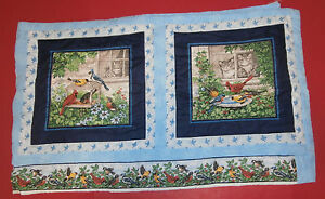 """Bird Quilted Table Runner 21"""" x 71"""" Blue Cat"""