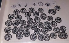 1984 SANCTUARY GAME COINS, THUG, AMULET COUNTER REPLACEMENT PARTS FREE SHIPPING!