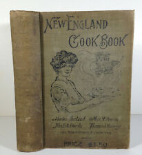 New England Cookbook 1905 Canning Jelly Baking Food for Invalids great old ads!