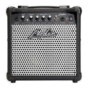 New Lorden 15W Solid State Slimline Combo Electric Guitar Practice Amplifier