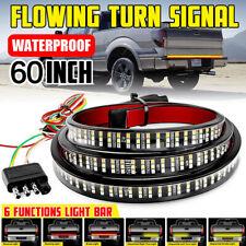 "60"" Tailgate 3-ROW LED Strip Bar Truck Car Stop Brake Turn Signal Tail Light US"