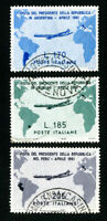 Italy Stamps # 832-4 VF Used Set of 3 Scott Value $23.00