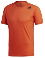Men's New Adidas FreeLift Running T-Shirt Top - Fitness Gym Training Gym - Red