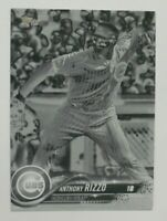 2018 Topps Series 1 #50 Negative Parallel Anthony Rizzo Chicago Cubs SP 50 Made