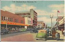 View on Cleveland Street in Clearwater FL Postcard 1959