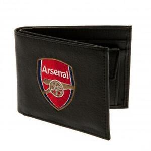 ARSENAL FC CREST EMBROIDERED PU LEATHER WALLET - OFFICIAL FOOTBALL GIFT