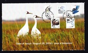 Canada limited edition 2018 private FDC sc#3118-3122 Birds of Canada, booklet x5