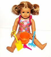 Orange Beach Bucket Play Set 4PC 18 in American Girl Doll Clothes Accessory